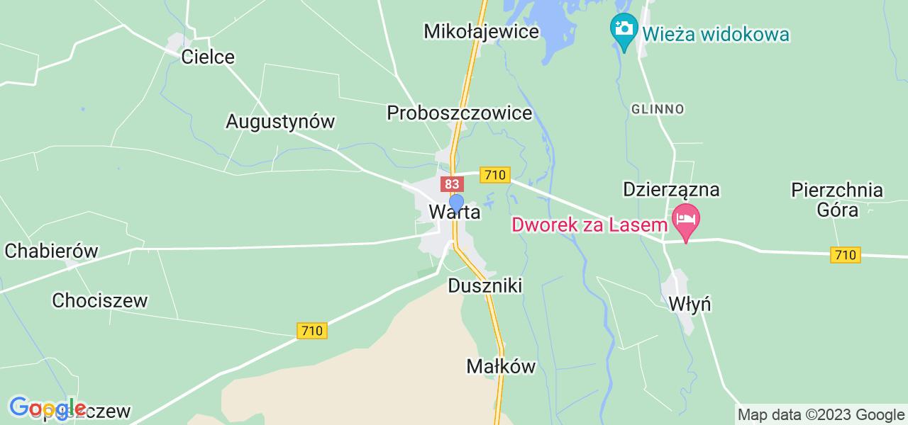 Dostępne w Warcie lokalizacje punktów nadania, z których możesz skorzystać, chcąc wysłać turbinę do regeneracji w największym serwisie w Polsce