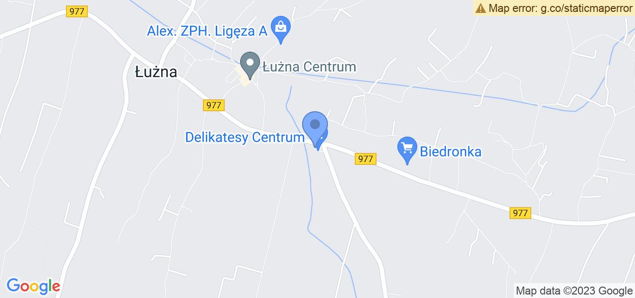 Jedna z ulic w Łużnej – Łużna 770 i mapa dostępnych punktów wysyłki uszkodzonej turbiny do autoryzowanego serwisu regeneracji