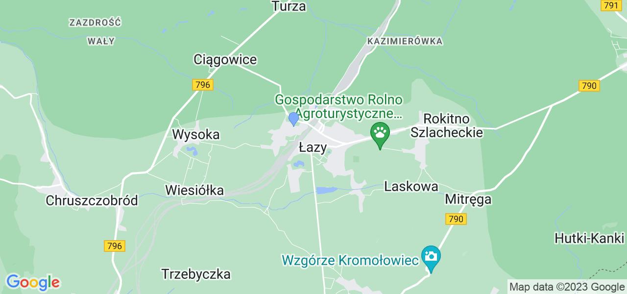 Dostępne w Łazach lokalizacje punktów nadania, z których możesz skorzystać, chcąc wysłać turbinę do regeneracji w największym serwisie w Polsce