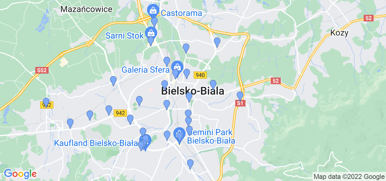 Dostępne w Bielsku-Białej lokalizacje punktów nadania, z których możesz skorzystać, chcąc wysłać turbinę do regeneracji w największym serwisie w Polsce