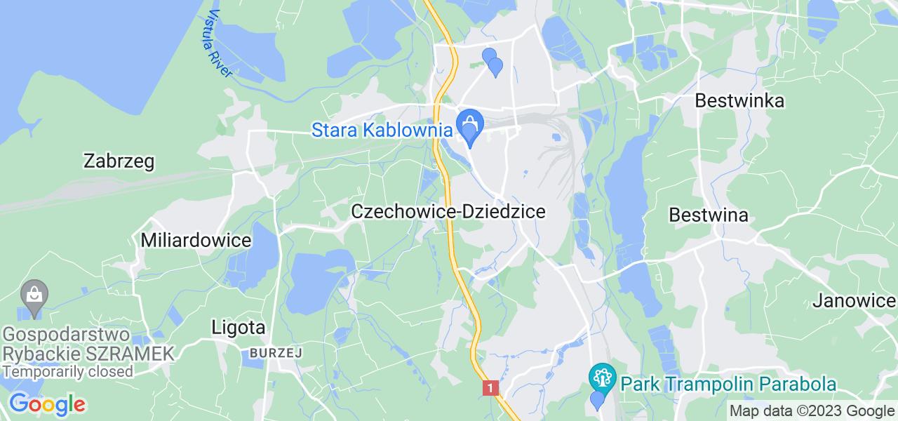 Dostępne w Czechowicach-Dziedzicach lokalizacje punktów nadania, z których możesz skorzystać, chcąc wysłać turbinę do regeneracji w największym serwisie w Polsce