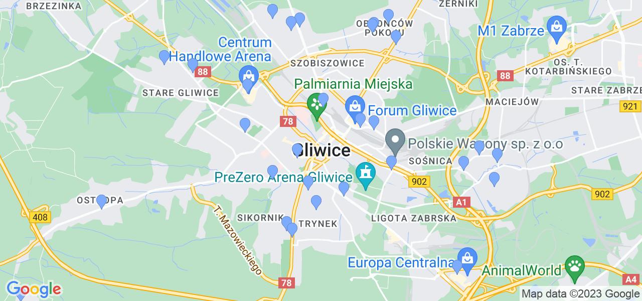 Dostępne w Gliwicach lokalizacje punktów nadania, z których możesz skorzystać, chcąc wysłać turbinę do regeneracji w największym serwisie w Polsce