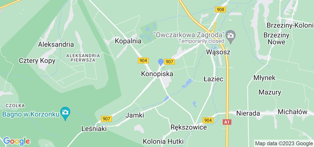 Dostępne w Konopiskach lokalizacje punktów nadania, z których możesz skorzystać, chcąc wysłać turbinę do regeneracji w największym serwisie w Polsce