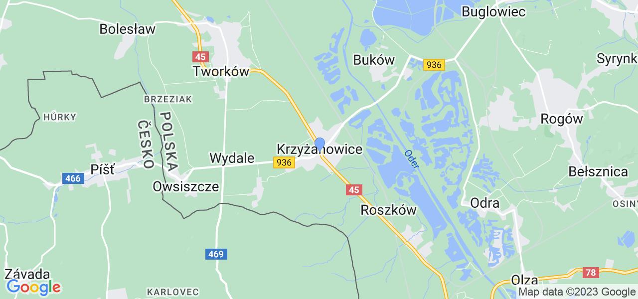 Dostępne w Krzyżanowicach lokalizacje punktów nadania, z których możesz skorzystać, chcąc wysłać turbinę do regeneracji w największym serwisie w Polsce