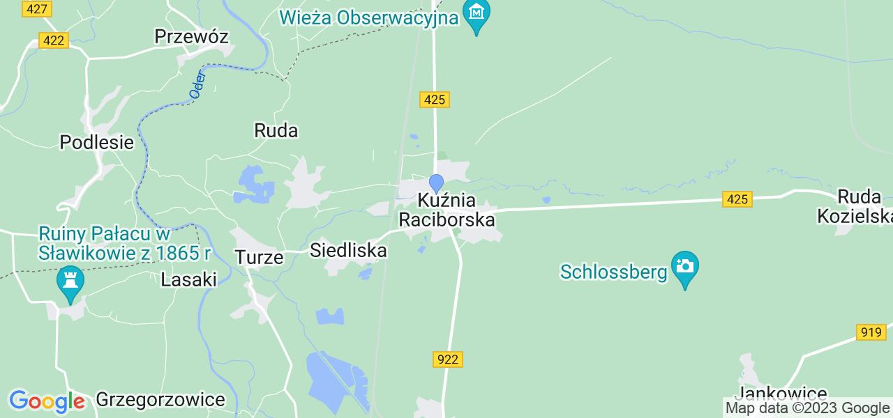 Dostępne w Kuźni Raciborskiej lokalizacje punktów nadania, z których możesz skorzystać, chcąc wysłać turbinę do regeneracji w największym serwisie w Polsce