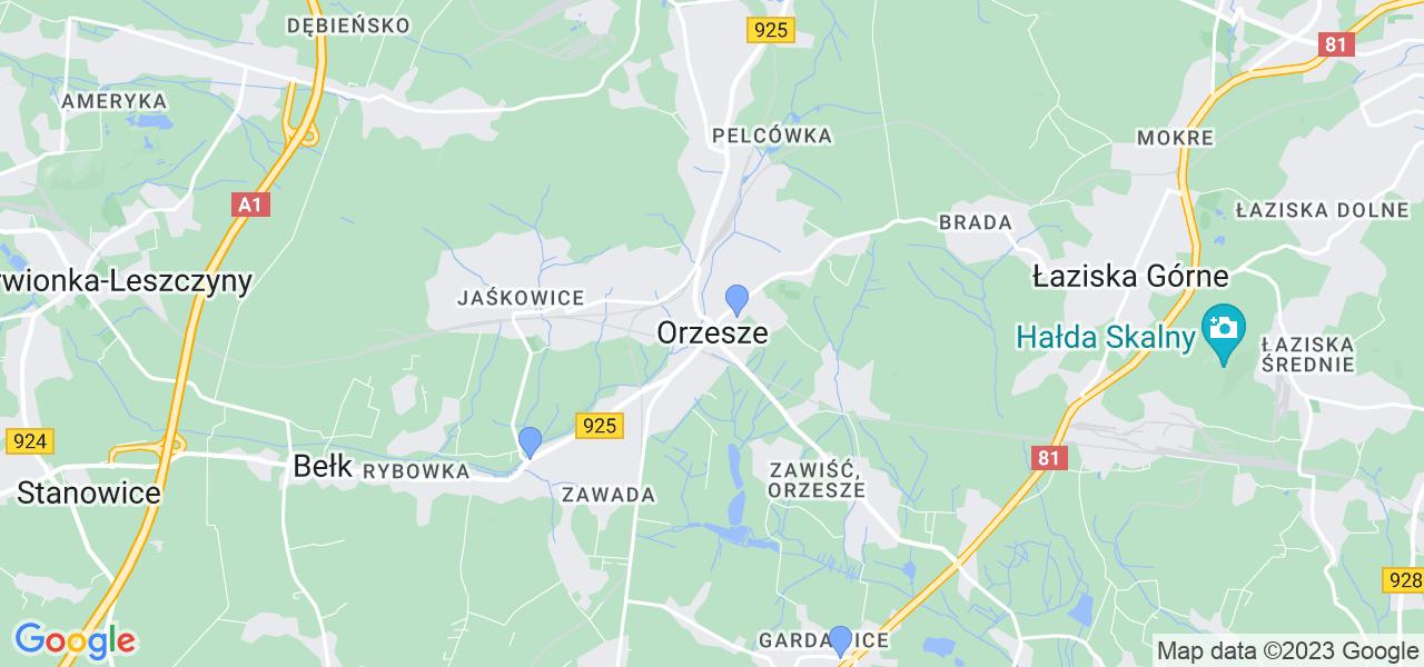Dostępne w Orzeszu lokalizacje punktów nadania, z których możesz skorzystać, chcąc wysłać turbinę do regeneracji w największym serwisie w Polsce