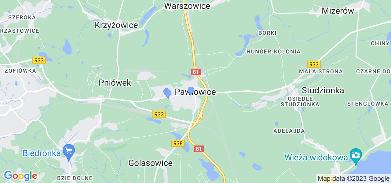 Dostępne w Pawłowicach lokalizacje punktów nadania, z których możesz skorzystać, chcąc wysłać turbinę do regeneracji w największym serwisie w Polsce