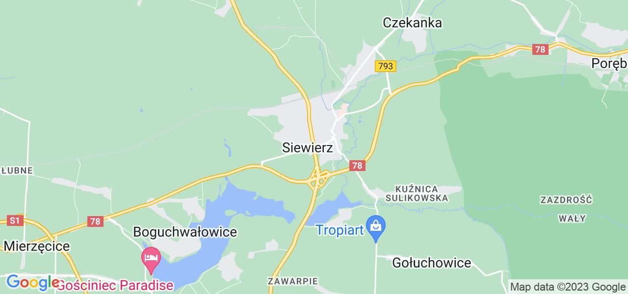 Dostępne w Siewierzu lokalizacje punktów nadania, z których możesz skorzystać, chcąc wysłać turbinę do regeneracji w największym serwisie w Polsce