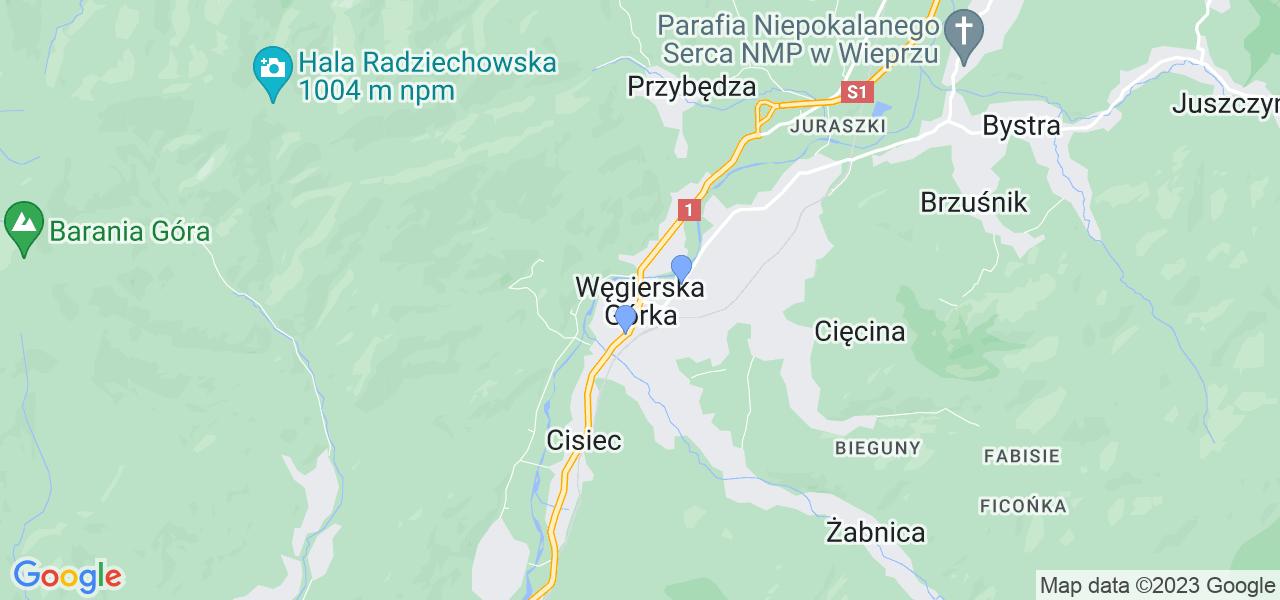Dostępne w Węgierskiej Górce lokalizacje punktów nadania, z których możesz skorzystać, chcąc wysłać turbinę do regeneracji w największym serwisie w Polsce