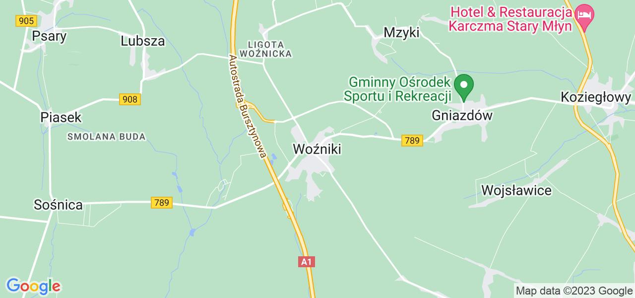 Dostępne w Woźnikach lokalizacje punktów nadania, z których możesz skorzystać, chcąc wysłać turbinę do regeneracji w największym serwisie w Polsce