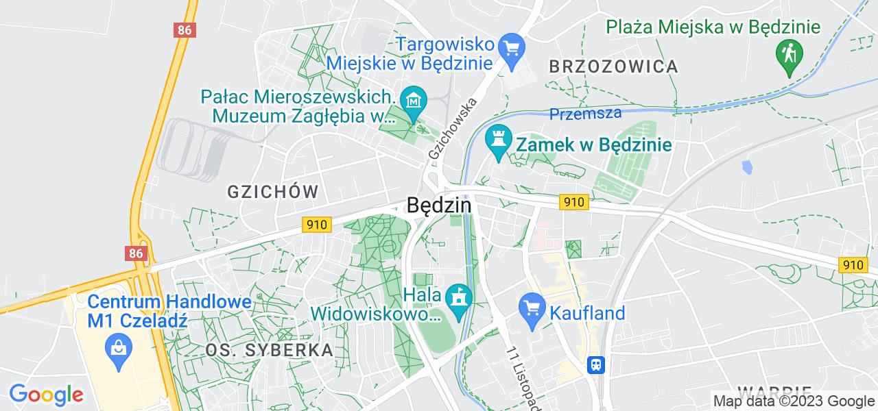 Osiedle Śródmieście w Będzinie – w tych punktach ekspresowo wyślesz turbinę do autoryzowanego serwisu