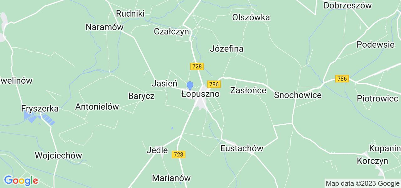 Dostępne w Łopusznie lokalizacje punktów nadania, z których możesz skorzystać, chcąc wysłać turbinę do regeneracji w największym serwisie w Polsce