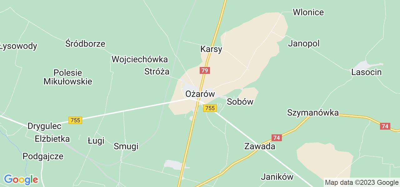 Dostępne w Ożarowie lokalizacje punktów nadania, z których możesz skorzystać, chcąc wysłać turbinę do regeneracji w największym serwisie w Polsce
