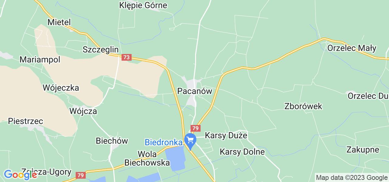 Dostępne w Pacanowie lokalizacje punktów nadania, z których możesz skorzystać, chcąc wysłać turbinę do regeneracji w największym serwisie w Polsce