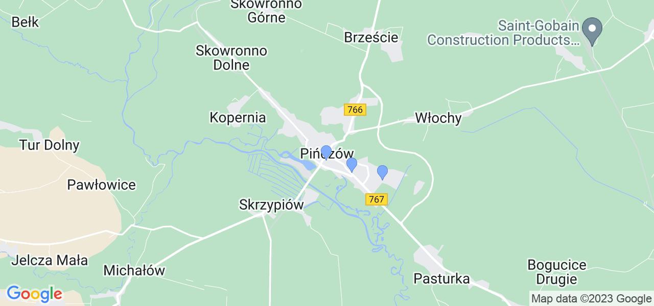 Dostępne w Pińczowie lokalizacje punktów nadania, z których możesz skorzystać, chcąc wysłać turbinę do regeneracji w największym serwisie w Polsce