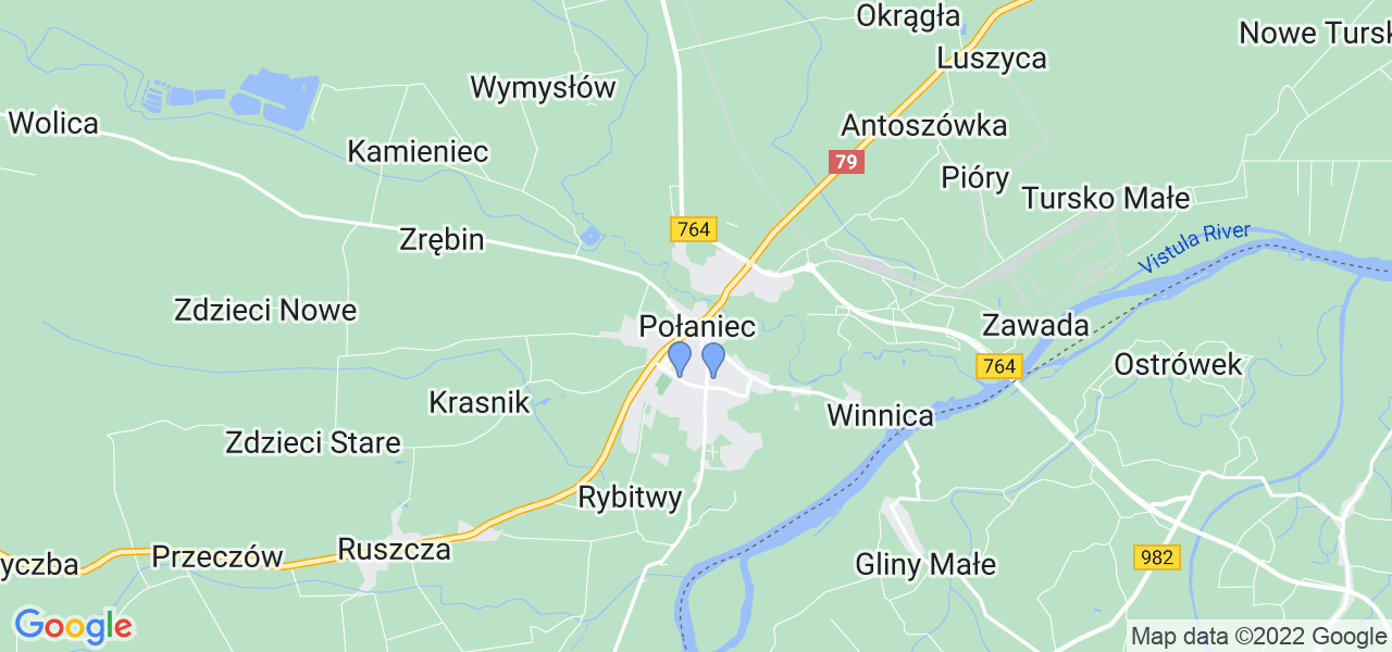 Dostępne w Połańcu lokalizacje punktów nadania, z których możesz skorzystać, chcąc wysłać turbinę do regeneracji w największym serwisie w Polsce