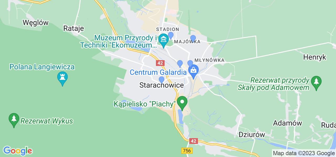 Dostępne w Starachowicach lokalizacje punktów nadania, z których możesz skorzystać, chcąc wysłać turbinę do regeneracji w największym serwisie w Polsce