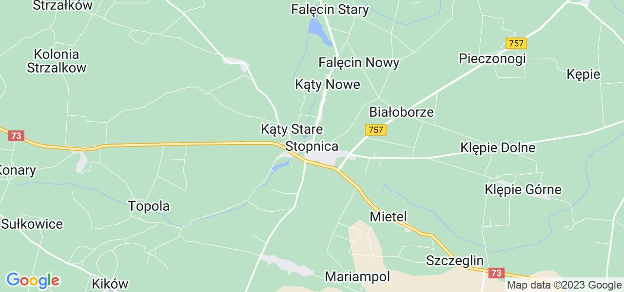 Dostępne w Stopnicy lokalizacje punktów nadania, z których możesz skorzystać, chcąc wysłać turbinę do regeneracji w największym serwisie w Polsce
