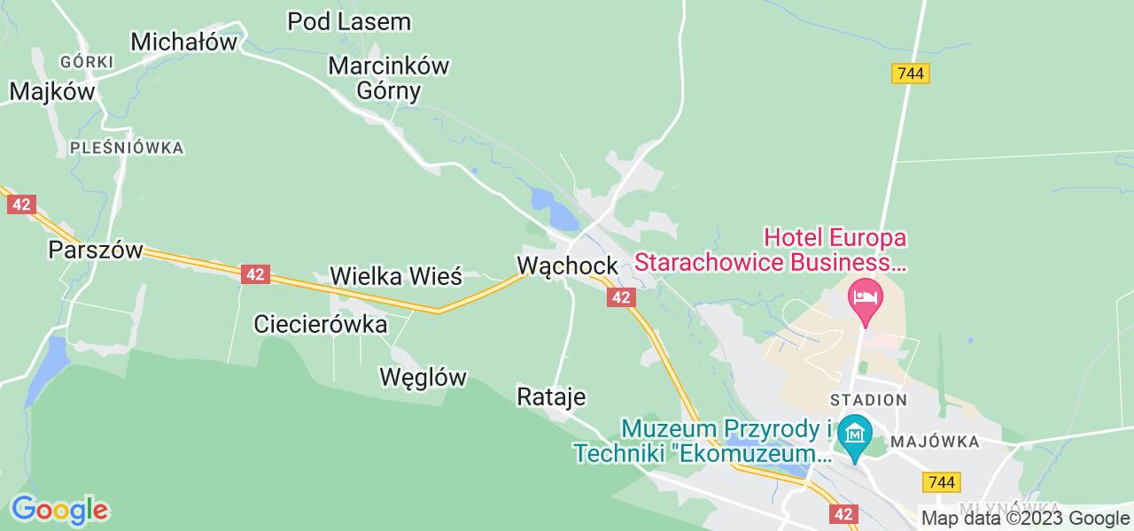 Dostępne w Wąchocku lokalizacje punktów nadania, z których możesz skorzystać, chcąc wysłać turbinę do regeneracji w największym serwisie w Polsce