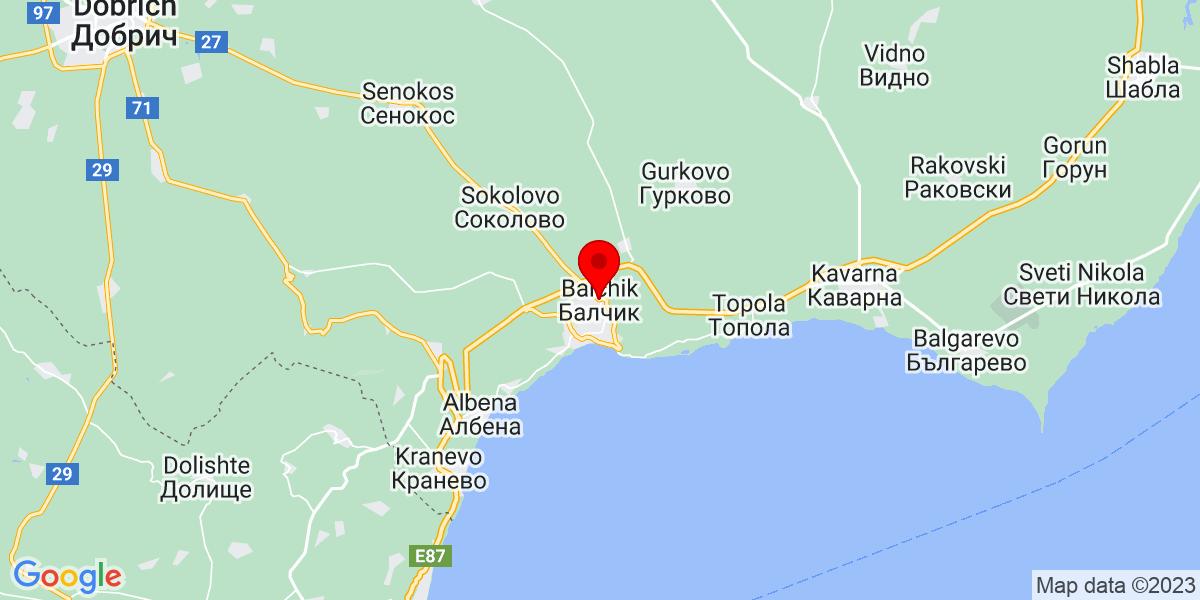 Google Map of белите скали balchik