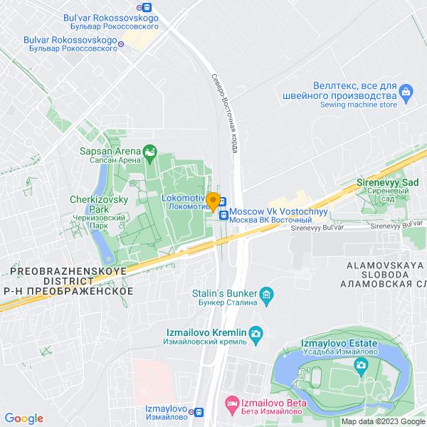 Доставка пиццы и суши у станции метро Локомотив.