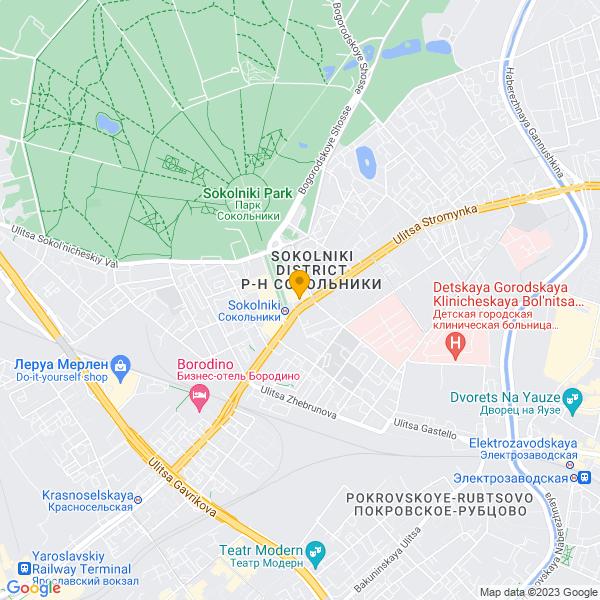 Доставка пиццы и суши у станции метро Сокольники.