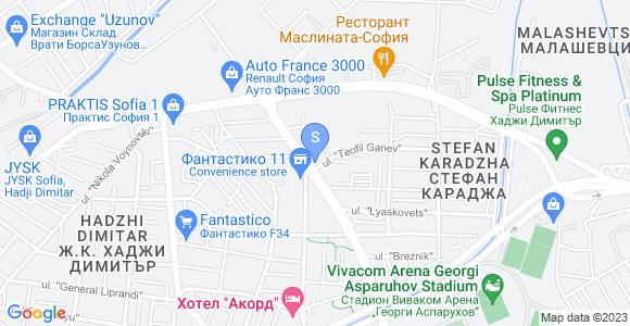 Карта на офиса на Сибела ООД