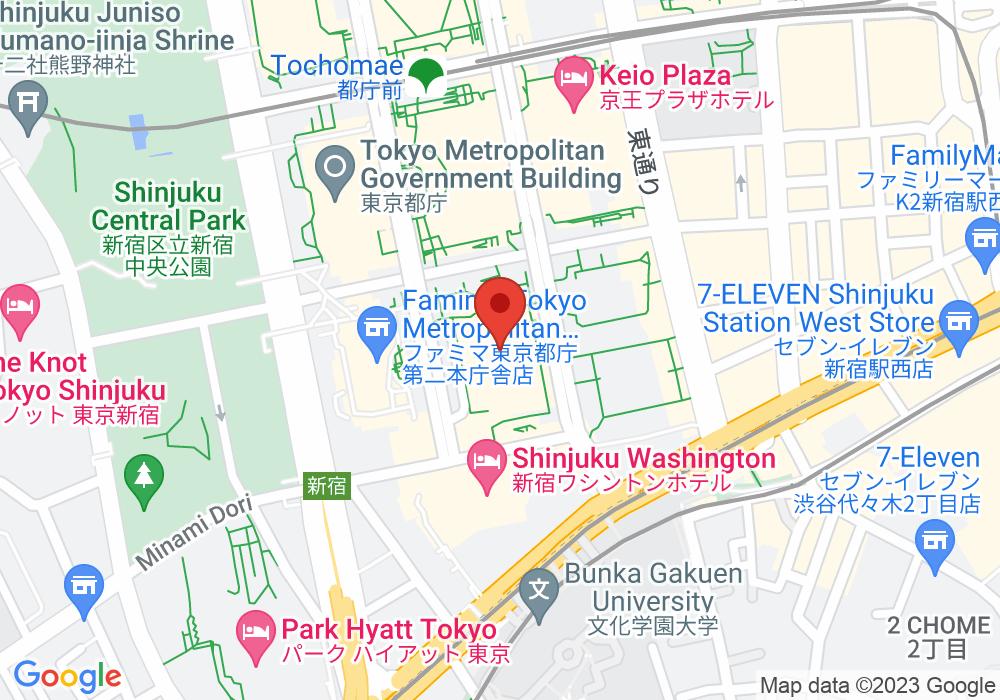 東京都新宿区西新宿2-4-1の地図