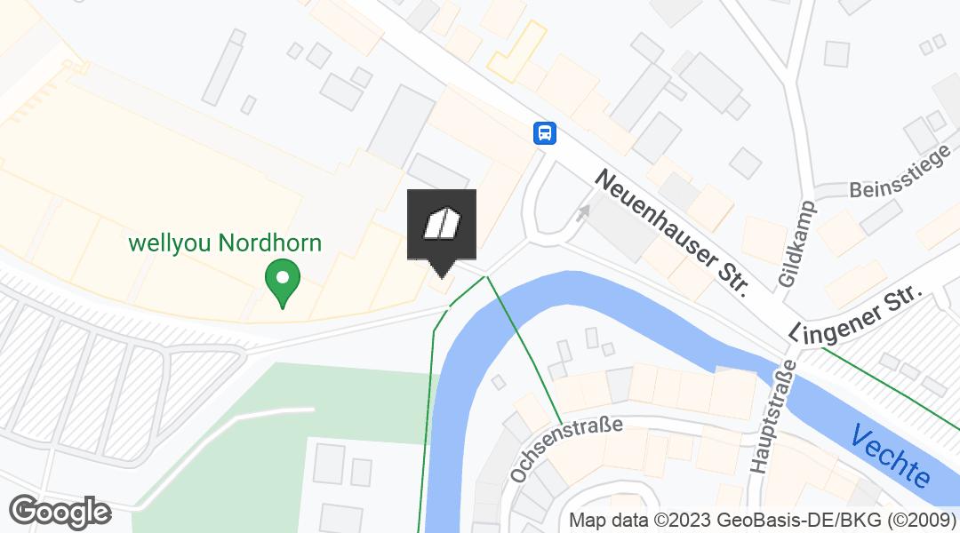 Karte für den Markt in Nordhorn