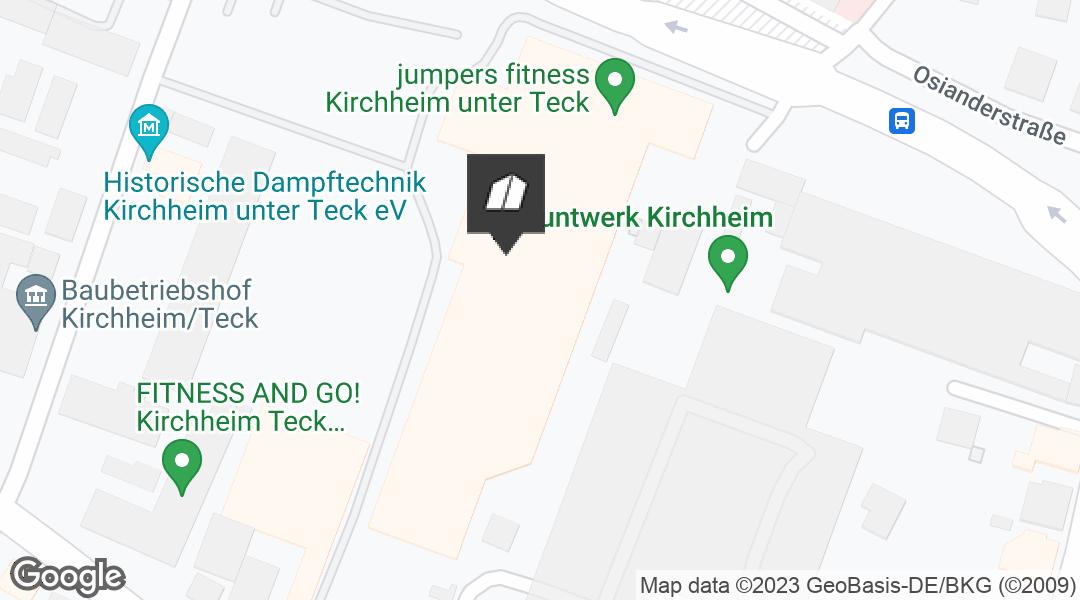 Karte für den Markt in Kirchheim