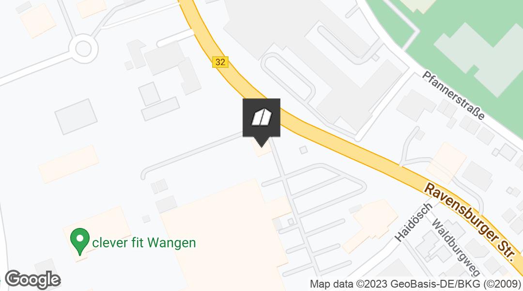 Karte für den Markt in Wangen/Allgäu