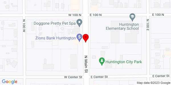 Google Map of +1+Utah+10+Huntington+UT+84528