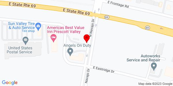 Google Map of +10123+East+State+Route+69+Prescott+Valley+AZ+86314