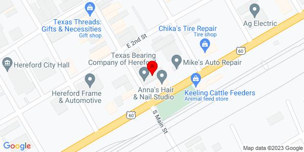Google Map of +102+N.+Main+Street+Hereford+TX+79045