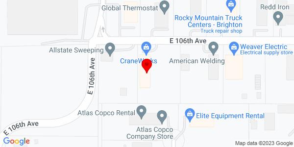 Google Map of +10200+E.+106th+Ave.+Brighton+CO+80601
