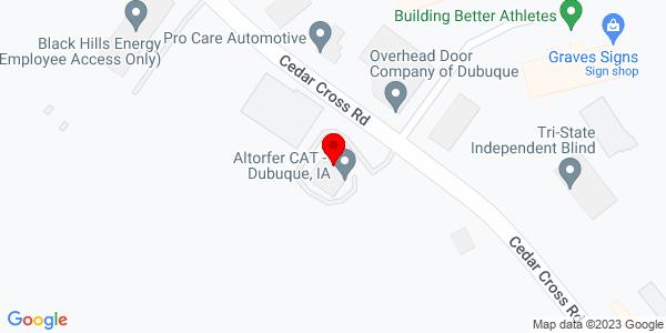 Google Map of +1025+Cedar+Cross+Road+Dubuque+IA+52003