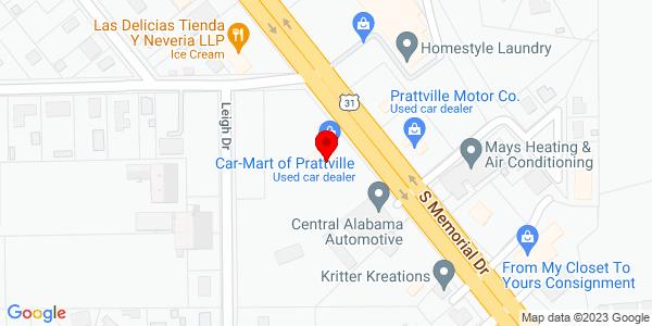 Google Map of +1026+S.+Memorial+Drive+Prattville+AL+36066