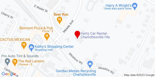 Google Map of +104+Meade+Avenue+Charlottesville+VA+22902
