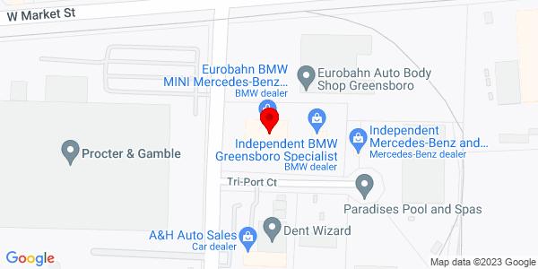 Google Map of +105+South+Swing+Road+Greensboro+NC+27409