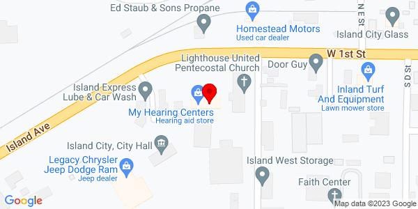 Google Map of +10505+West+1st+Street+LaGrande+OR+97850
