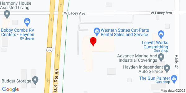 Google Map of +10780+N+Hwy+95+Hayden+ID+83835