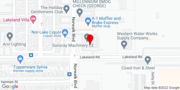 Google Map of +10950+South+Norwalk+Blvd+Santa+Fe+Springs+CA+90670