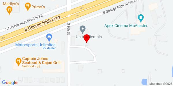 Google Map of +1124+George+Nigh+Expressway+Mcalester+OK+74501