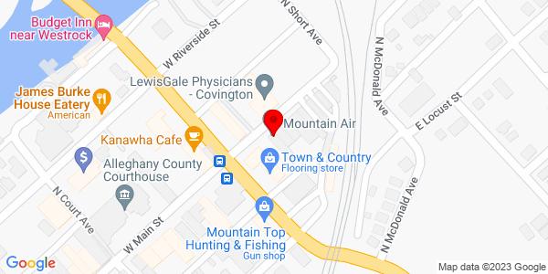 Google Map of +113+E.+Fudge+St.+Covington+VA+23323