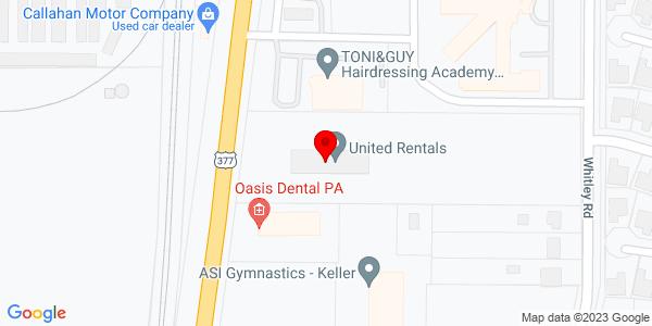 Google Map of +1201+South+Main+Street+Keller+TX+76248