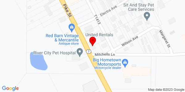 Google Map of +1205+Pike+Street+Marietta+OH+45750