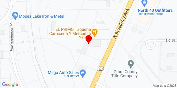 Google Map of +1210+West+Broadway+Moses+Lake+WA+98837