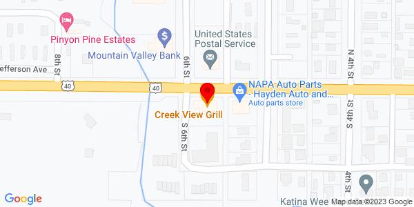 Google Map of +1299+W+Jefferson+Avenue+Hayden+CO+81639