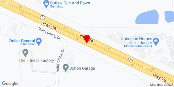 Google Map of +13001+Highway+78+Jasper+AL+35501