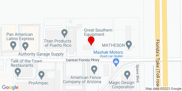 Google Map of +1301+Central+Florida+Parkway+Orlando+FL+32837